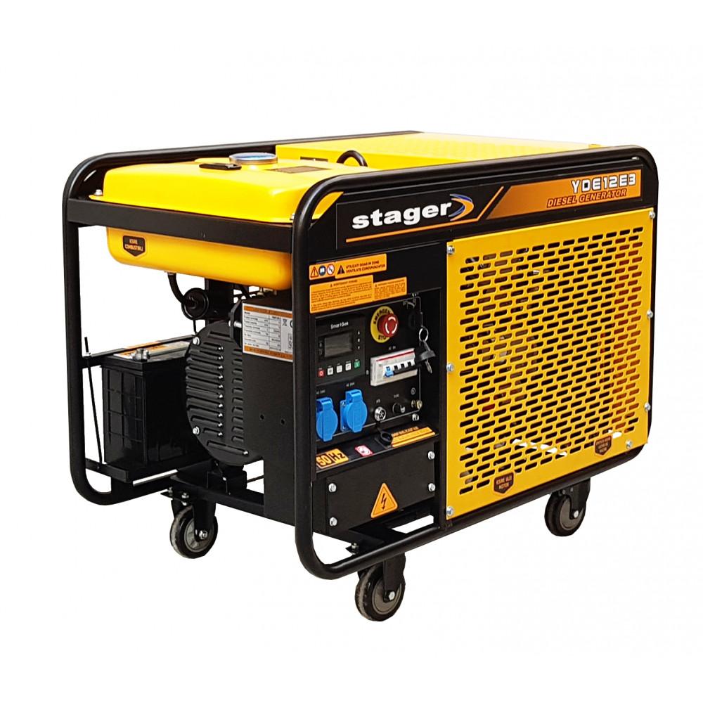 Generator de curent Stager YDE12E3, diesel, trifazat