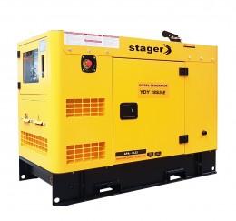 Generator de curent STAGER YDY18S3-E, silent, 1500 rpm, diesel, trifazat-lascule.ro